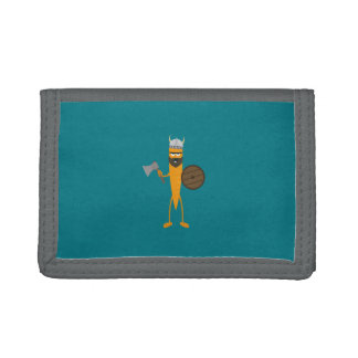 Viking carrot trifold wallets