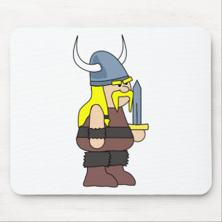 Viking cartoon mouse pad