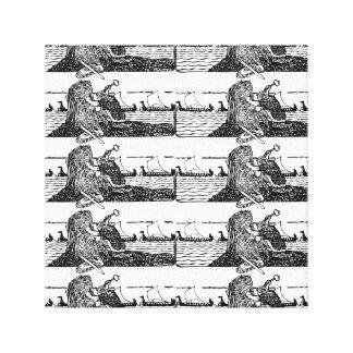 Viking Carving Runes Canvas Print