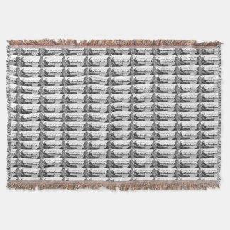 Viking Carving Runes Throw Blanket