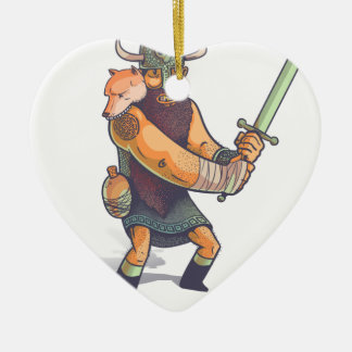 Viking Ceramic Ornament