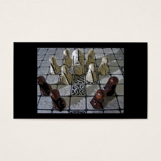 Viking chess game business card