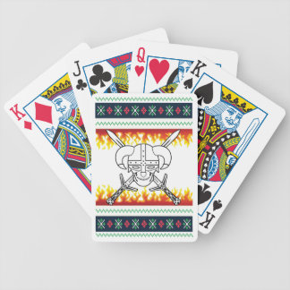 viking christmas bicycle playing cards