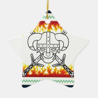 viking christmas ceramic star ornament