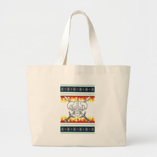 viking christmas large tote bag