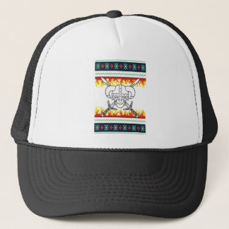 viking christmas trucker hat