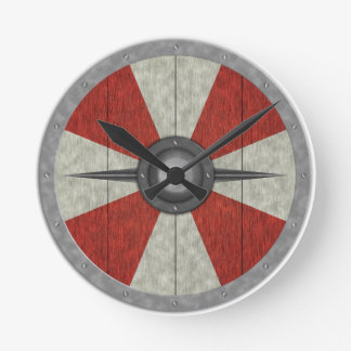 Viking Circle Shield Round Clock