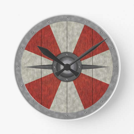 Viking Circle Shield Wall Clock
