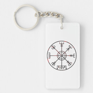 viking compass s6 poster Double-Sided rectangular acrylic keychain