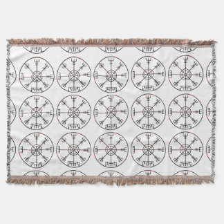 viking compass s6 poster throw blanket