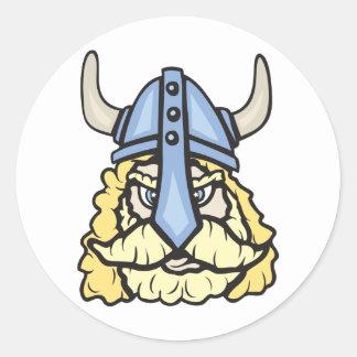 Viking!  Customizable! Round Sticker