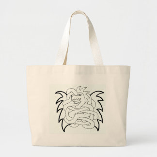 Viking dragon knot large tote bag
