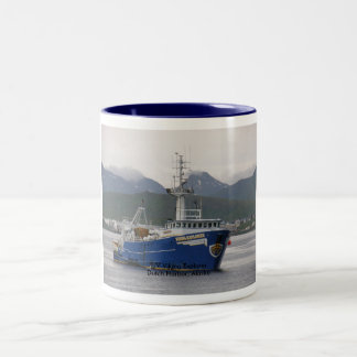 Viking Explorer, Fishing Trawler in Dutch Harbor Two-Tone Coffee Mug