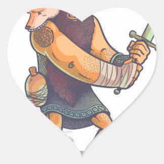 Viking Heart Sticker