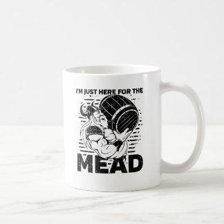 Viking I'm Just Here for the Mead Coffee Mug