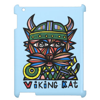 """Viking Kat"" 631 Art iPad Case"