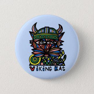"""Viking Kat"" Round Button"