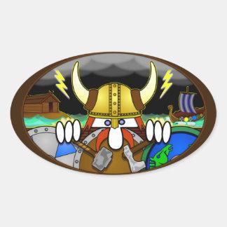 Viking Kilroy Oval Sticker
