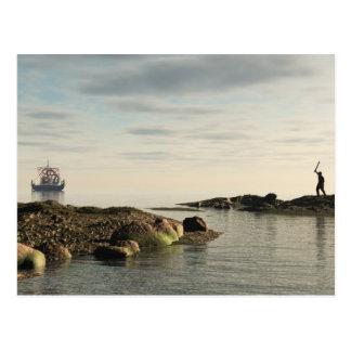 Viking Longship Homecoming Postcard