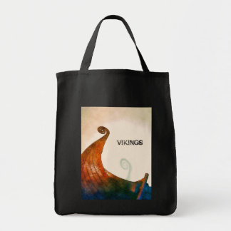 Viking Longship Tail Grocery Tote