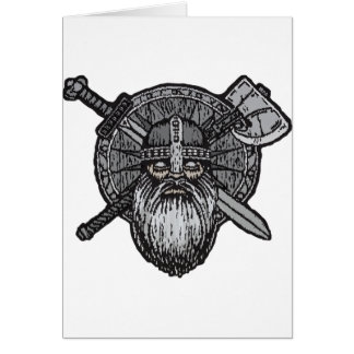 viking man germanic nordic norse runic card