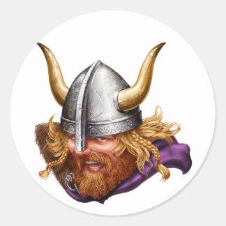 Viking, Norse, Norsemen Classic Round Sticker