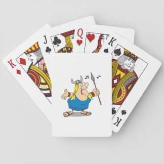 Viking Opera Singer Playing Cards