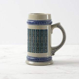 Viking Pattern Blue Beer Stein