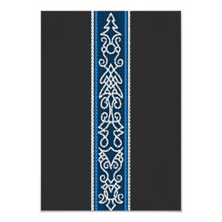 Viking Pattern Blue Card