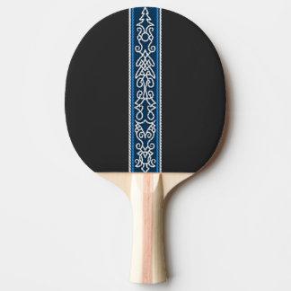 Viking Pattern Blue Ping Pong Paddle