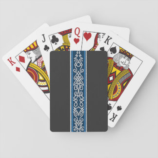 Viking Pattern Blue Playing Cards