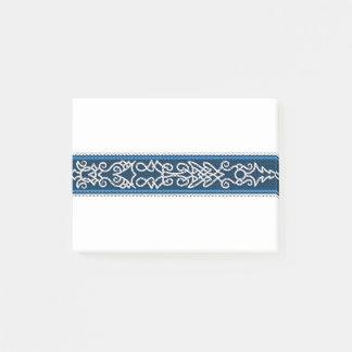 Viking Pattern Blue Post-it Notes