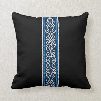 Viking Pattern Blue Throw Pillow