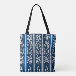 Viking Pattern Blue Tote Bag
