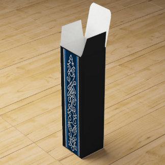Viking Pattern Blue Wine Gift Box