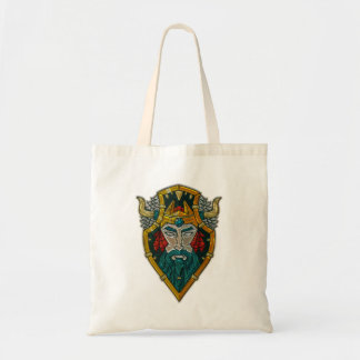 Viking Portrait Metallic Look Tote Bag