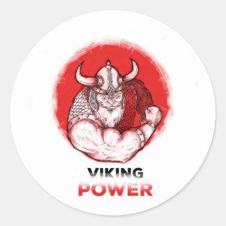 Viking power classic round sticker