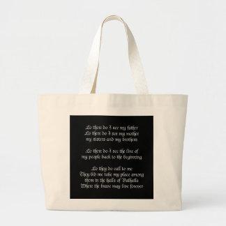 Viking Prayer Black Tote Bag