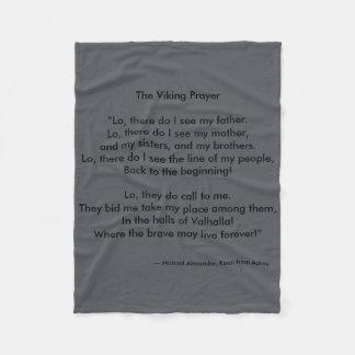 Viking Prayer by Michael Alexander Fleece Blanket