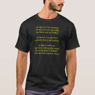 Viking Prayer Lo There Do I See My Father T-Shirt