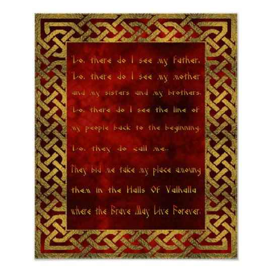 Viking Prayer Poster