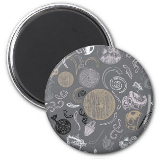 Viking Primitive 2 Inch Round Magnet