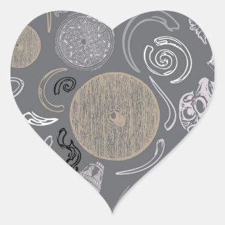 Viking Primitive Heart Sticker