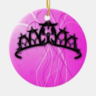 Viking Princess Crown- pink Ceramic Ornament