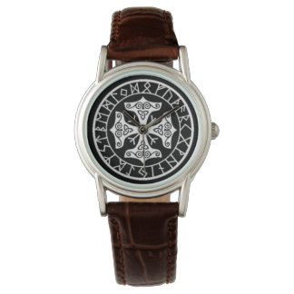 Viking Protection Runes Talisman Protection Wristwatch