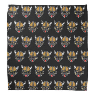Viking Pug Black TP Bandana