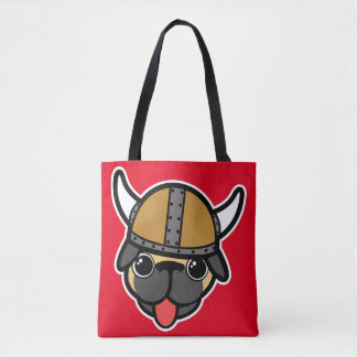 Viking Pug Tote Bag