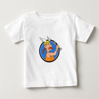 Viking Repairman Spanner Circle Cartoon Baby T-Shirt