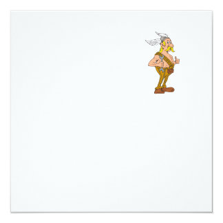 Viking Repairman Spanner Thumbs Up Cartoon Card