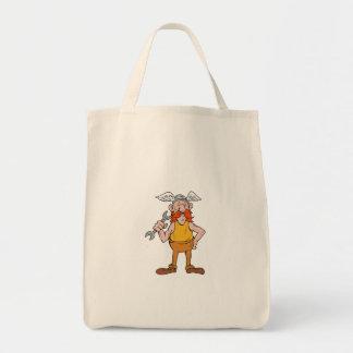 Viking Repairman Standing Spanner Cartoon Tote Bag